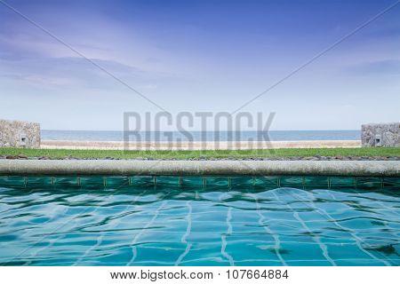 Swimming Pool at beachfront