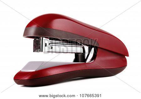 New Red Office Stapler Isolated Over White