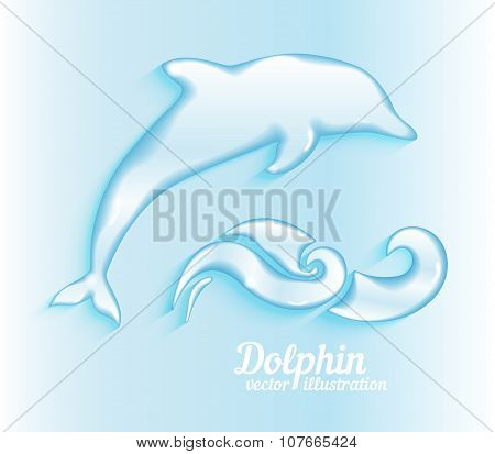 Jumping dolphin illustration
