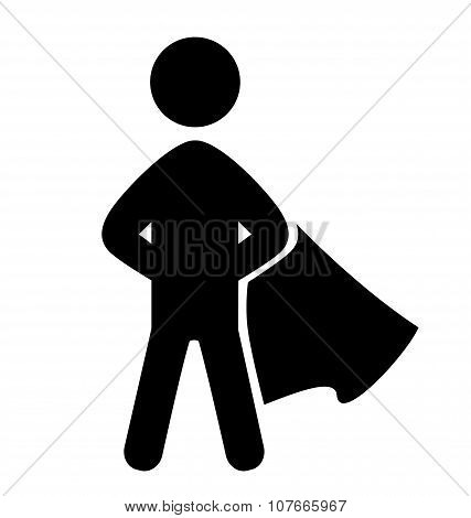 Success People Hero Flat Icons Pictogram Isolated On White