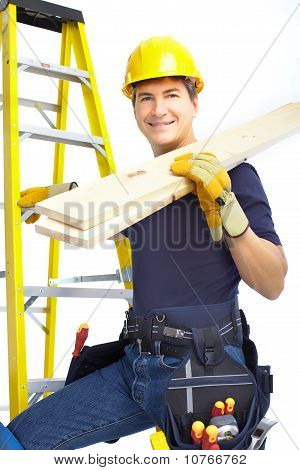 Handsome Smiling Builder