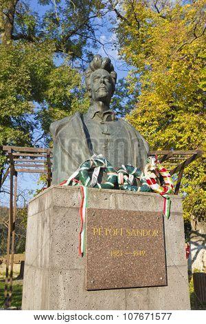 Statue Of Petofi  Sandor
