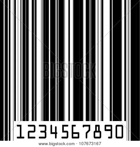 Abstract Barcode Strip