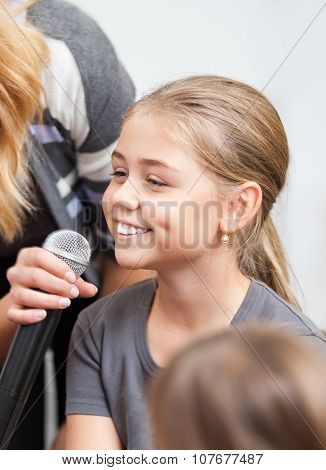 Child Being Interviewed