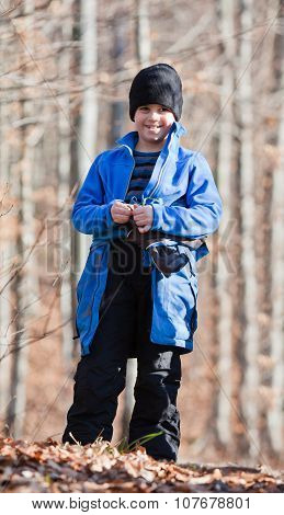 Portrait Of Little Boy Outdoors