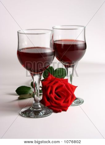Red Wine And Rose