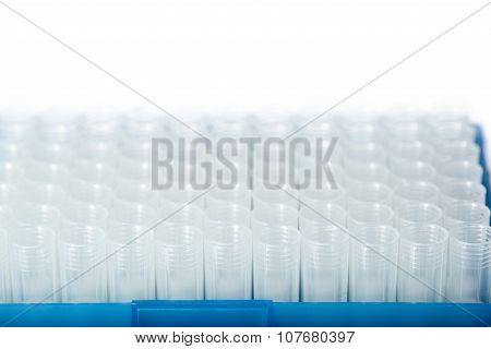 Rows Of Disposable Tubes