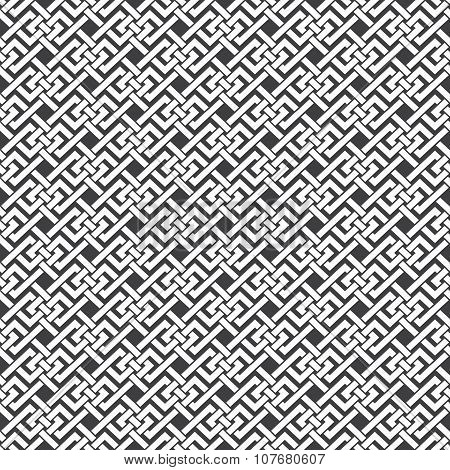 Seamless pattern of intertwined strips