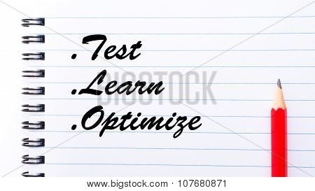 Test Learn Optimize