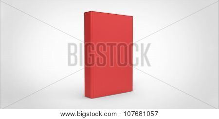Red Book Cover Isolated On Plain Background