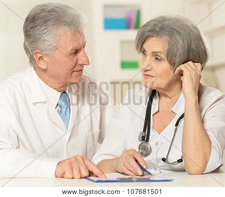 Mature doctors couple