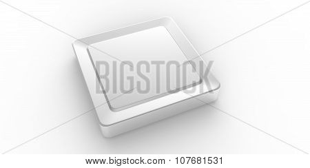Empty Silver Square Button