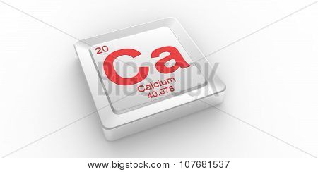 Ca Symbol 20 Material For Calcium Chemical Element Of The Periodic Table
