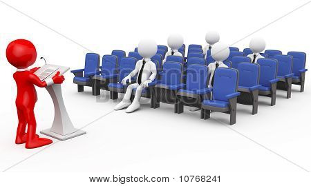 3D human lecturing