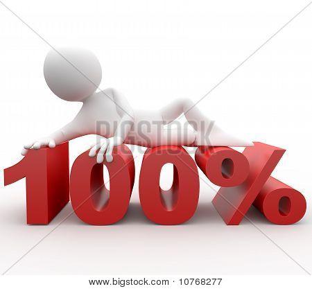 3d human lying in 100 percent