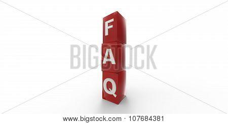 3D Red Faq Cubes