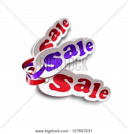Labels For Sale With Ribbon