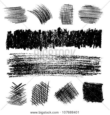 Vector Set Of Pencil Hatching 2