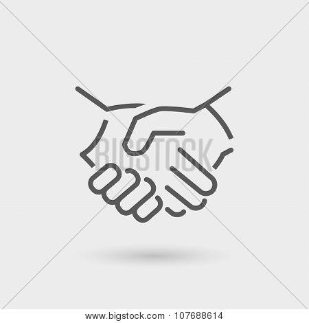 Business Handshake Thin Line Icon