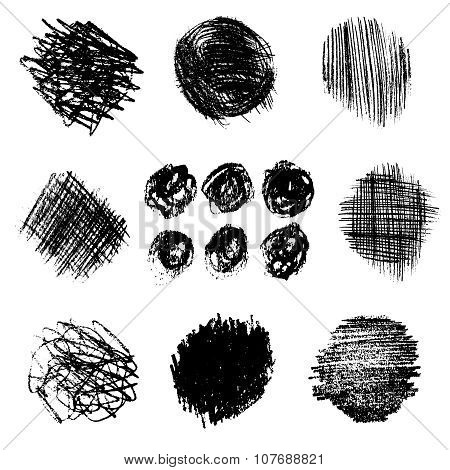 Vector Set Of Pencil Hatching