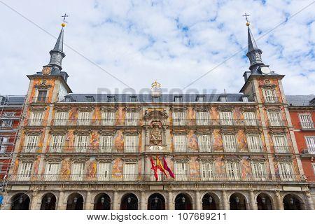 Casa De La Panadería In Plaza Mayor, Madrid, Spain