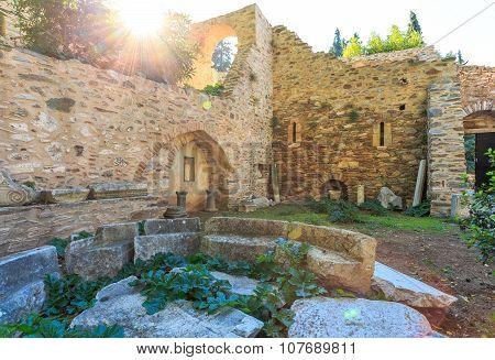 byzantine monastery in Kaisariani, Athens