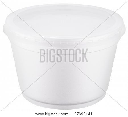 White polystyrene cup. File contains clipping paths.
