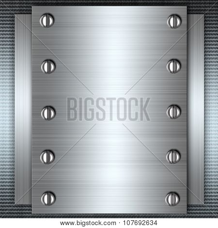 metal background, silver polished metal, steel texture
