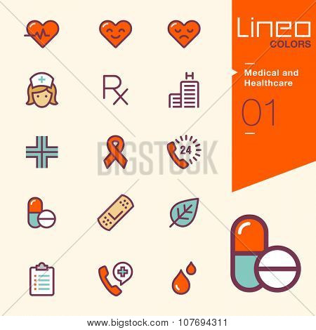 Lineo Colors - Medical and Health care icons