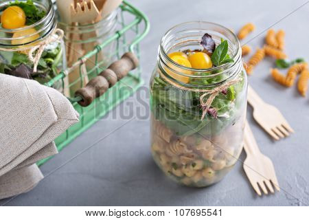 Salad in a jar food to go