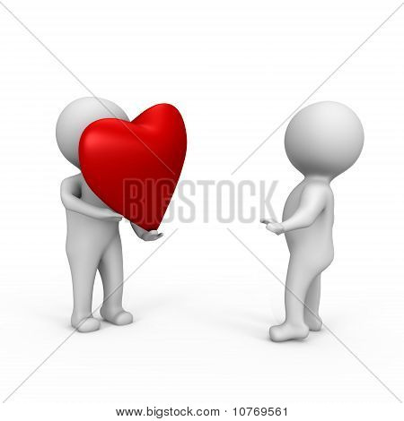I offer you my heart - a 3d image