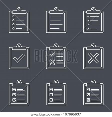 Check List Line Icon