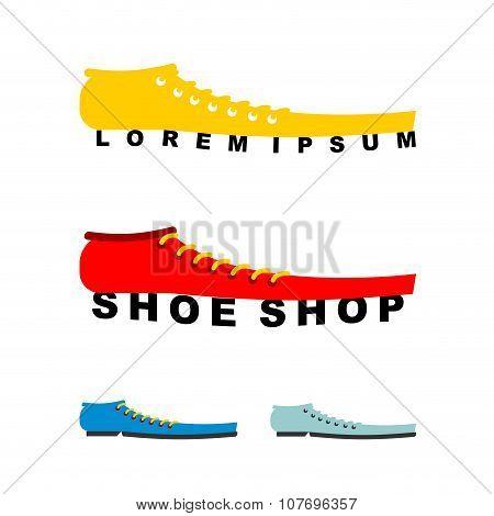 Logo Shoes. Long Boots. Emblem For Shoe Store Or Shoe Production.