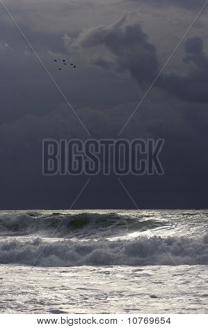 Thunderstorm over Atlantic Ocean 003