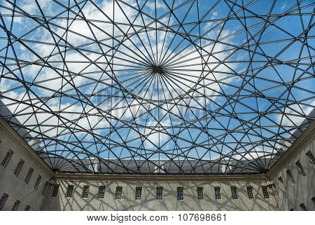 Skylight Of The Maritime Museum In Amsterdam