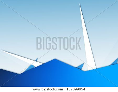 Blue abstract background ilustration