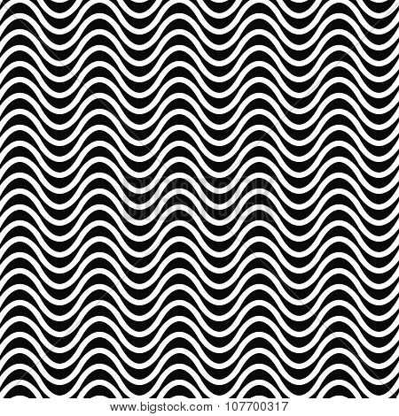 Repeating monochrome wave pattern
