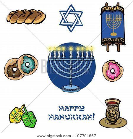 Hanukkah Traditional Iconset