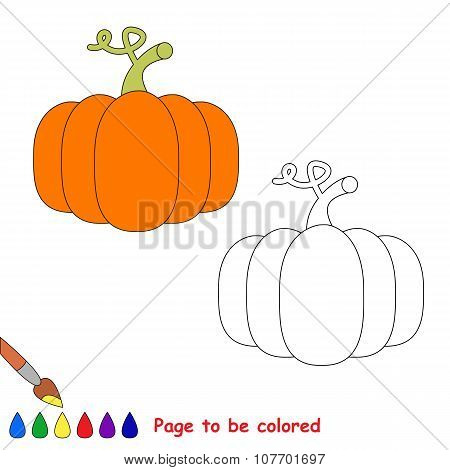 Vector cartoon orange pumpkin to be colored.