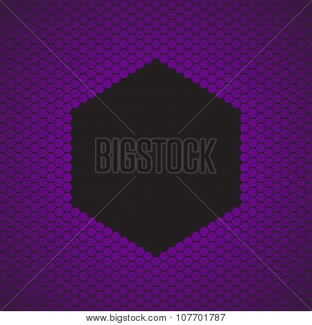 violet hexagon background