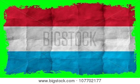 Flag of Luxembourg, painted on paper texture