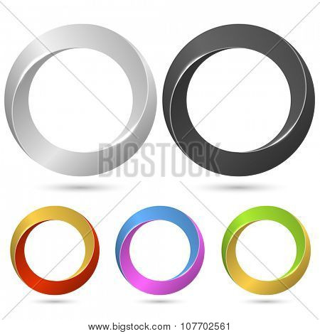 Ring loop sign vector template with color variants.