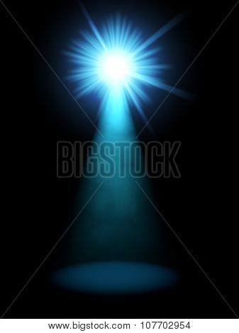 Abstract blue spotlight vertical background.