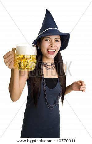 Pretty Woman With Beer