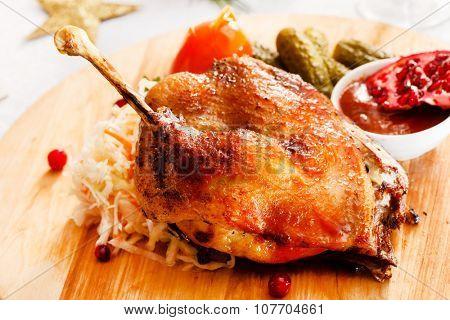 goose on Christmas table