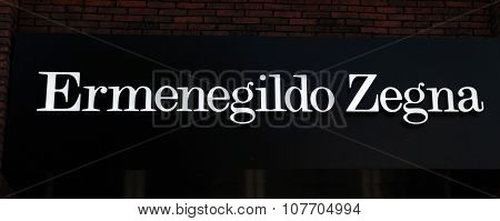 Logo Of The Brand Ermenegildo Zegna In Boutique