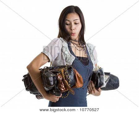 Woman With Many A Purses