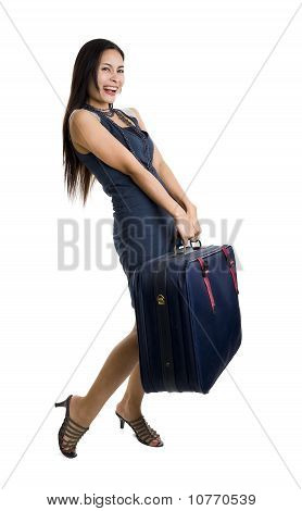 Pretty Woman With Bag
