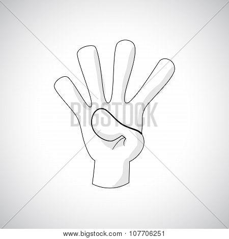 Comics Hand icon