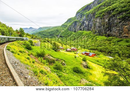 Village In Flam. Norway